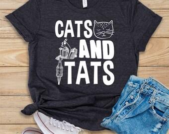 d9d0c4f57ef3c6 Cats And Tats   Shirt   Tank Top   Hoodie   Tattoo Shirt   Cat Lover Shirt    Tattoo Lover Shirt   Tattoo Artist Gift   Tattoo Artist Shirt