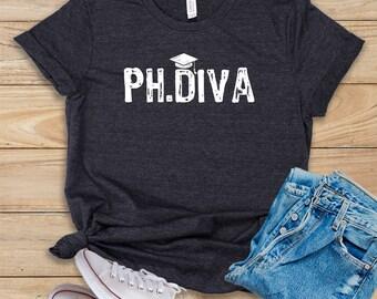 db0485869a Diva / Shirt / Tank Top / Hoodie / PHD Student / PHD Graduation / Phd  Degree / Phd Graduate / Med School / Law School / Medical School