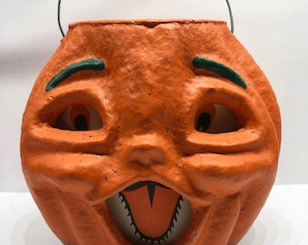 DIY Halloween Harvest Thanksgiving Darice Paper Mache Small 4 x 6.5 Pumpkin