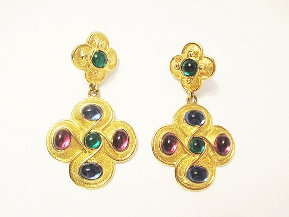 Vintage Napier Byzantium Pendant Earrings 1990, De