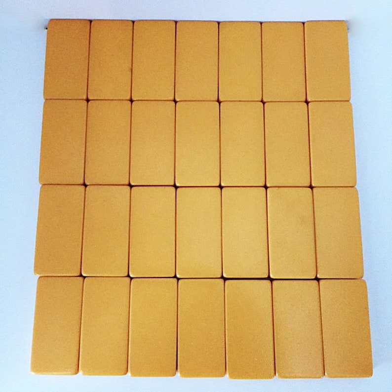 Great To Touch 1940s Cardinal Industries Butterscotch Bakelite Domino Set