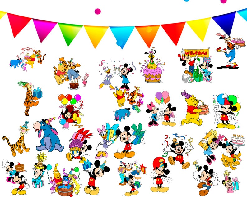 28 mickey mouse clipart cartoon party birthday image iron scrapbooking Instant on Download drawing digital PNG picture printable
