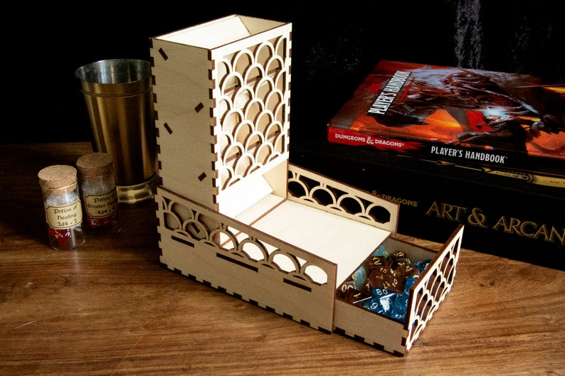 Dice Tower with dice tray for D/&DTabletop Games