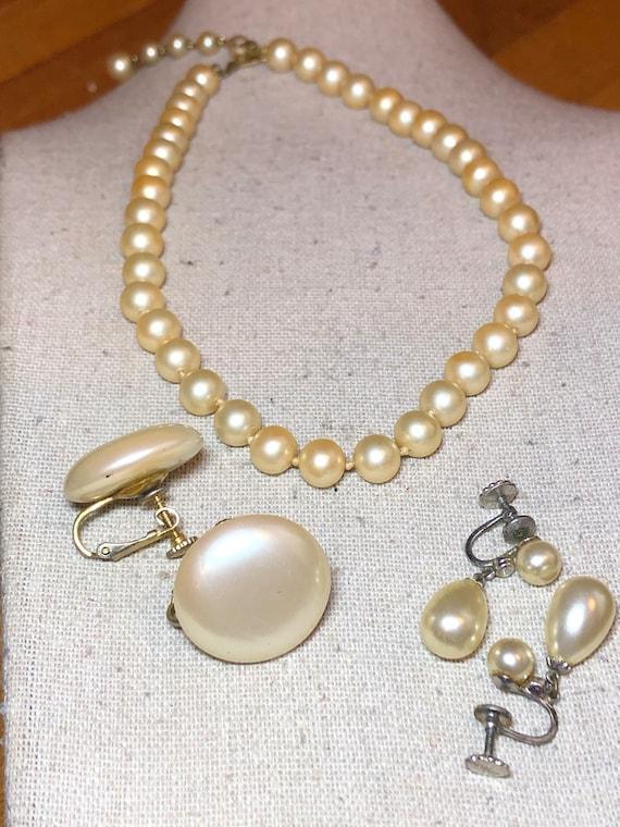 Vintage Marvella Jewelry Lot, Marvella Faux Pearl