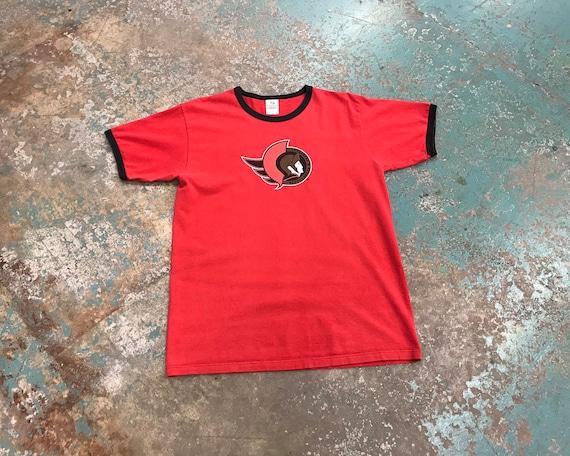 Vintage Ottawa Senators Ringer T Shirt-  '90s - NH