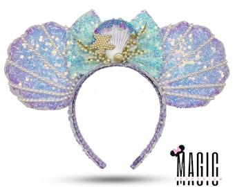 Ariel Little Mermaid Shell Pearl Disney Ears Mickey Ears Minnie Ears for Disneyland Disney World