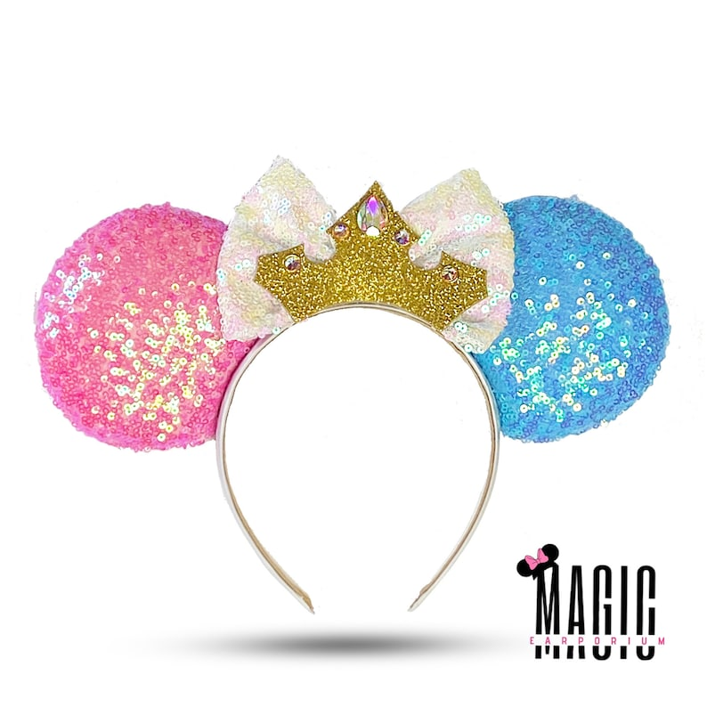 Sleeping Beauty Aurora Inspired Disney Mickey Mouse Ears Minnie Ears Disney Parks Ears Mouse Ears Custom Disney Ears