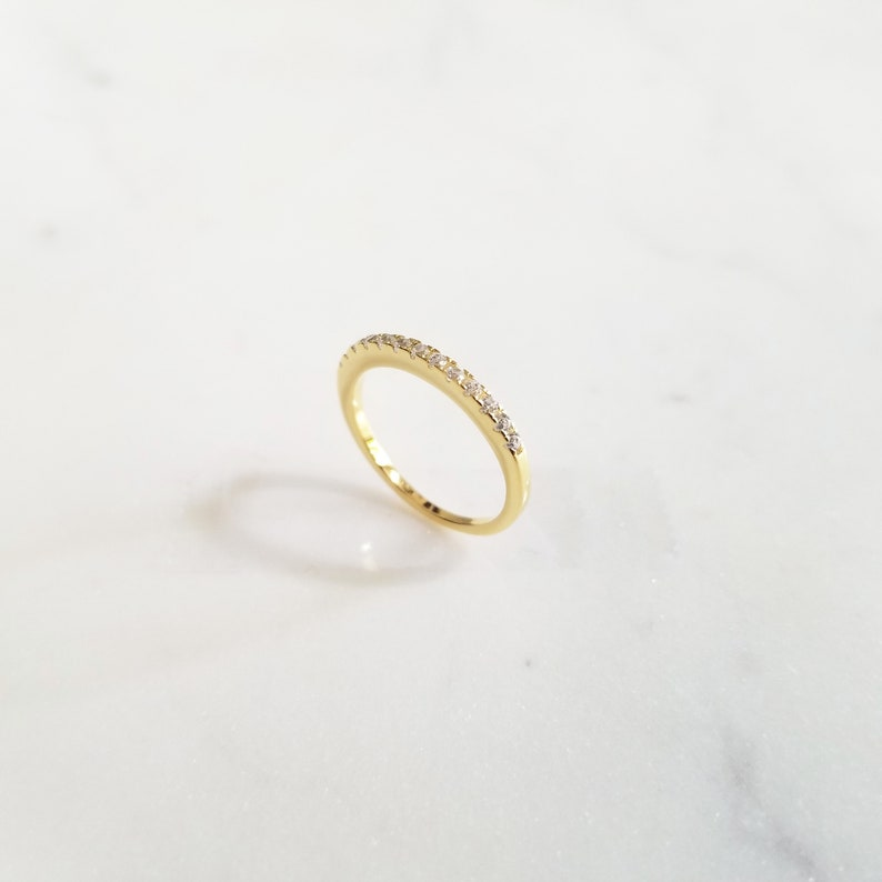 Dainty Ring Thin Cubic Ring Sterling Silver Ring Minimalist Ring Thin Ring Wedding Ring BLAKELY RING Band Ring Engagement Ring