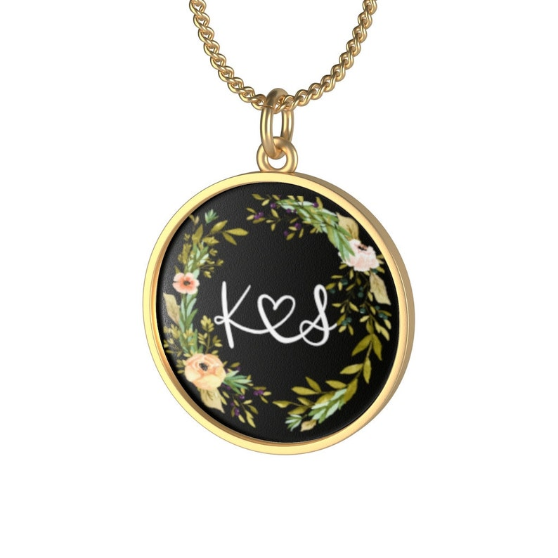 Personalized Necklace With Couple Initials Monogram Best image 0
