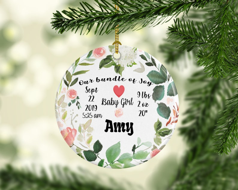 Personalized Christmas Ornaments Perfect Gift For New Parents image 0