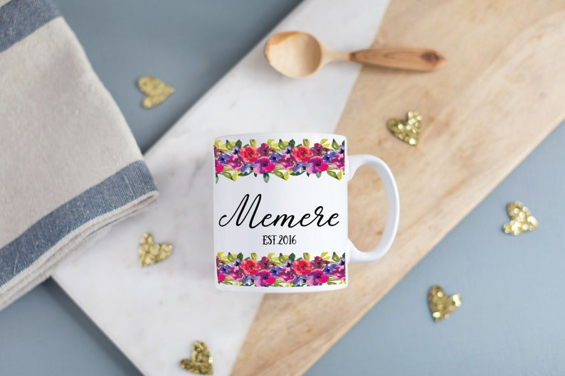 Personalized Floral Mug Perfect Mothers Day Gift for New image 0