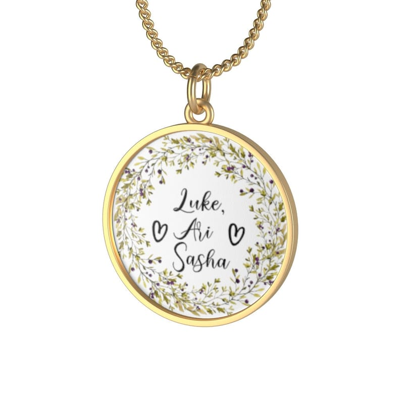 Personalized Necklace With Family Name Perfect Mothers Day image 0