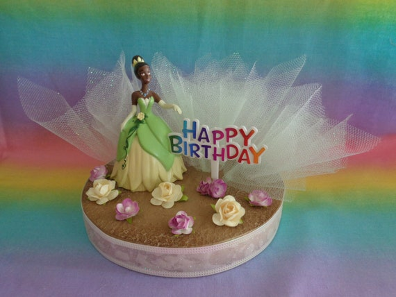 Surprising Disney Princess Tiana Birthday Cake Topper Table Decoration Etsy Funny Birthday Cards Online Aeocydamsfinfo