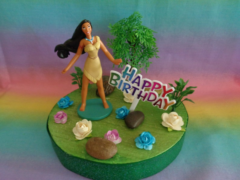 Incredible Disney Princess Pocahontas Birthday Cake Topper Table Etsy Personalised Birthday Cards Cominlily Jamesorg