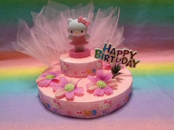 8f299ff6f Hello Kitty Pink Ballerina Cake Topper Table Decoration   Etsy