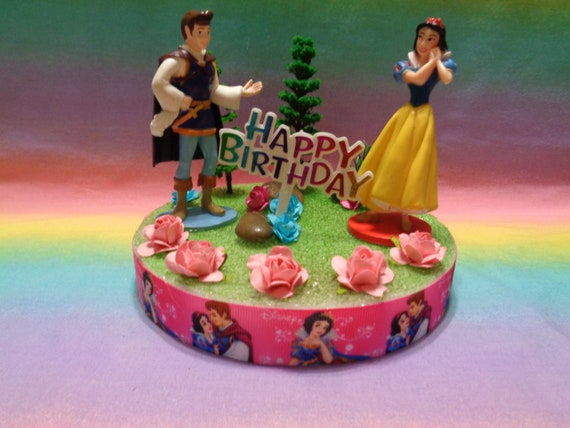 Terrific Disney Princess Snow White Birthday Cake Topper Table Etsy Funny Birthday Cards Online Alyptdamsfinfo
