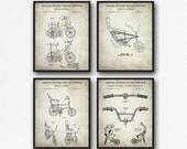Bicycle Set of 4 Patent Prints - Bicycle Poster Set - Retro Bicycle Inventions - Cycling Wall Art - Bicycle Collector Gift - Stingray