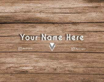 Wood Boho/Rustic YouTube Banner  - CUSTOMIZABLE