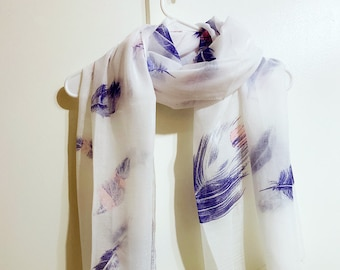 Special Sale 50/% Off of Mixed Purple and Gold Unique and Special Spectacular Tie-dyed By Hand Pure Cashmere Shawl