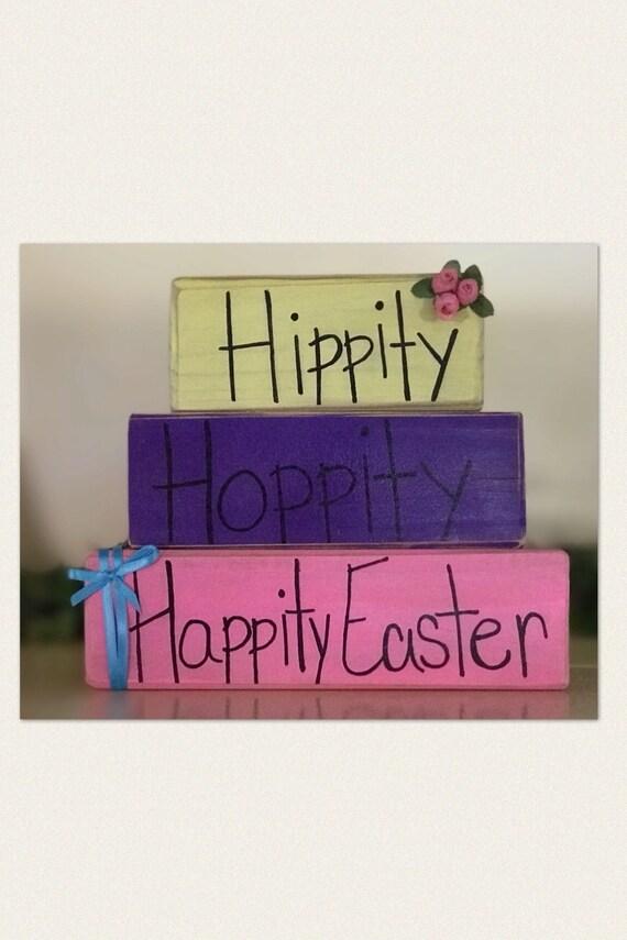 Hippity Hoppity Happity Easter Easter Shelf Sitter Spring Etsy