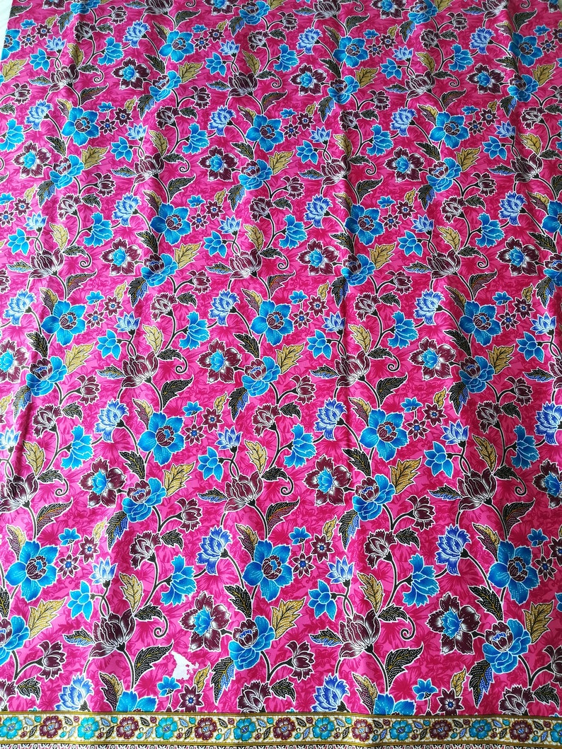 sarung Sarong pink skirt cotton multi color pattern Asian Thai bohemian clothing beach floral blue red flowers