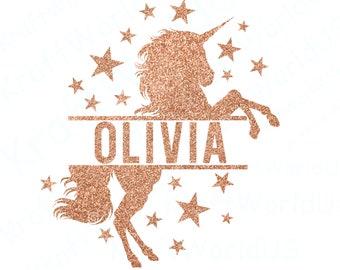 Unicorn vector, unicorn head svg, unicorn split monogram, unicorn monogram svg, unicorn shirt svg, unicorn dxf, unicorn, unicorn svg files
