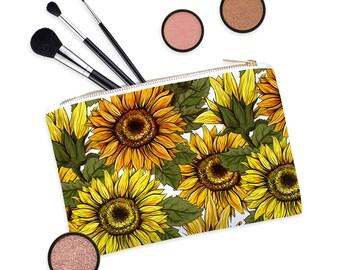 c4874de31fd4 Sunflower pouch | Etsy