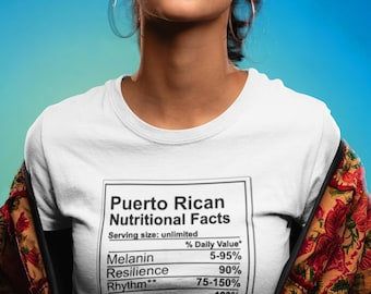 a5d02517 Puerto Rican Nutritional Facts T-Shirt