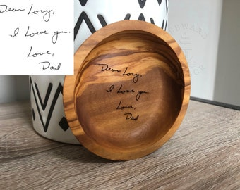 Personalized Ring Dish Maple Wood Jewelry Tray Engraved Wood RingJewelry Dish