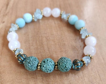 Lava Stone Aroma Diffuser Bracelet