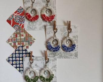 Ceramic hoop earrings