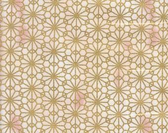 19.90 Eur/meter Japan Fabric Traditional Cotton Quilt Gate 50 cm x 110 cm Hana cream B264a