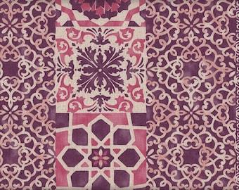 Cat Fabius Pink Japan Fabric Traditional CottonLinen 50cm x 110cm 17.90 EurMeter MeterWare
