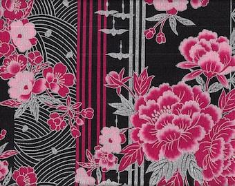 19.00 Eur/meter Japan fabric traditional cotton 50 cm x 110 cm Kiku asanoha pink B242b