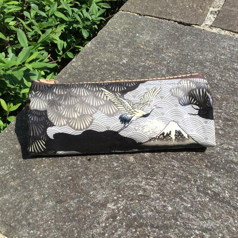 28.00 Eurmeter wax cloth laminated Japanese cotton fabric 50 cm x 110 cm trees pink UT806a