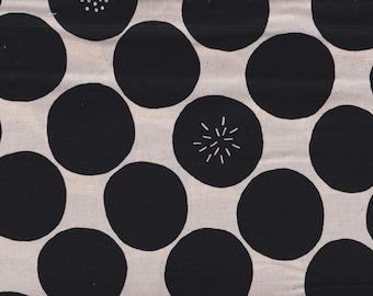 19.90 Eur/Meter Japanese Fabrics Sevenberry Modern Cotton Linen Dots 50cm x 110cm Dots Natural G4034a