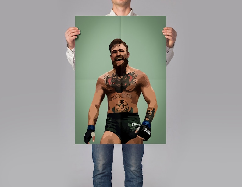 UFC Print Gift for him MMA Poster MMA Wall Print Conor Mcgregor Poster Modern Poster Bedroom Gift for boyfriend Martial Arts Print