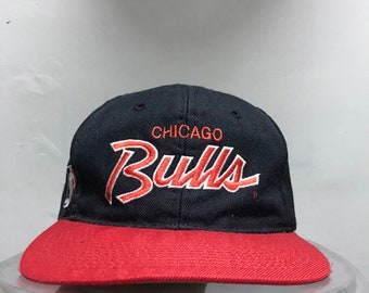 1f139b438 Vintage Chicago Bulls Sport Specialties Youngan Two Tone Script Double Line  Snapback