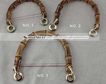 Bag Accessories Natural Bamboo High Quality Purse Chain,Alloy and Bamboo Metal Shoulder Handbag Strap,Bag Strap Detachable,JD-941