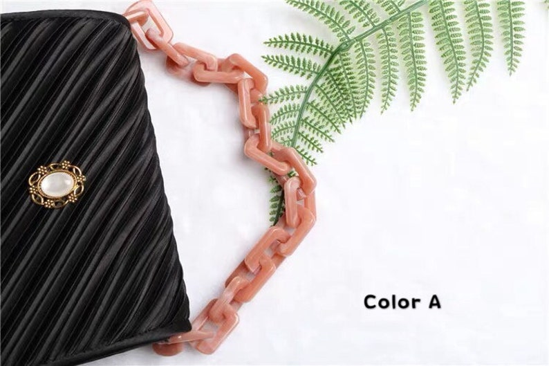 Metal Shoulder Handbag Strap Metal Crossbody Bag Chain Strap LD-762 45 inch Acrylic High Quality Purse Chain Replacement Handle Chain