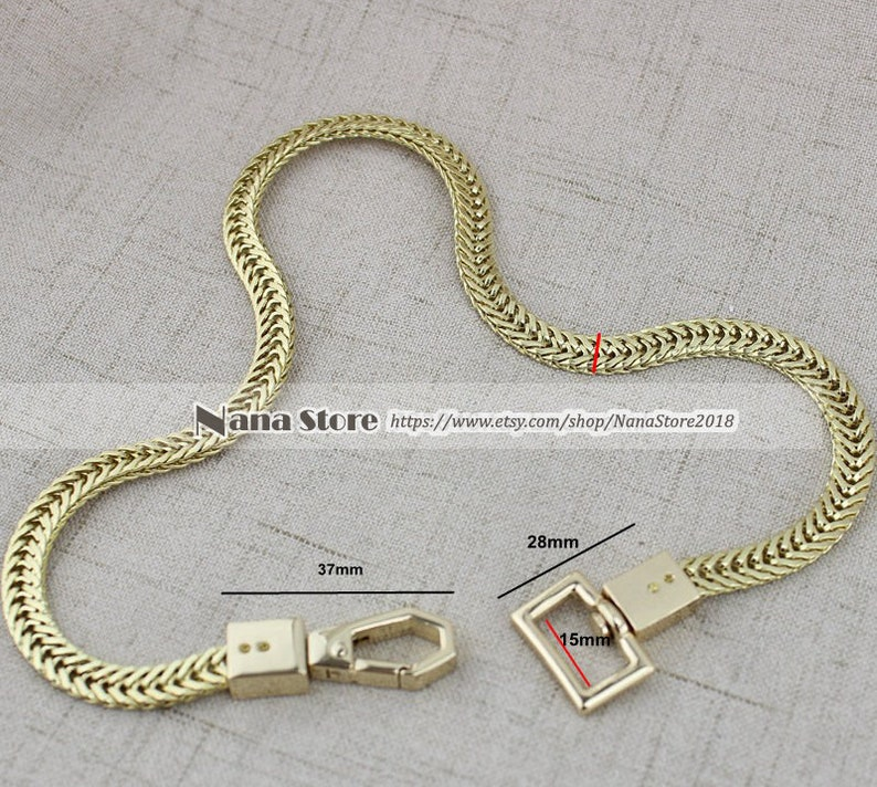 7MM Metal Shoulder Handbag Strap Replacement Handle Chain Metal Crossbody Bag Chain Strap,JD-876 High Quality Purse Chain