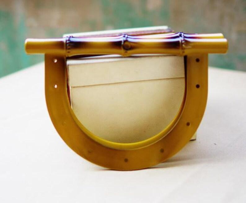 Handcraft Material for Handbag Making A pair of Resin Handles for Bag MS-087
