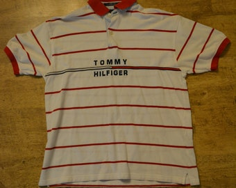 72c94bf7339 Tommy Hilfiger Men's Large 2001 Polo Shirt with Big spell out