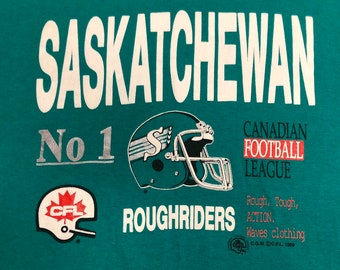 533c73bc474 1989 Saskatchewan Roughriders CFL Championship vintage Tshirt mens Large