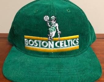 dcaf96b4cb7 Boston Celtics Vintage Ted Feltcher Corduroy Snapback 1980s