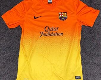5322f65425a FCB Barcelona Nike Dri Fit Qatar Foundation Jersey Mens Medium