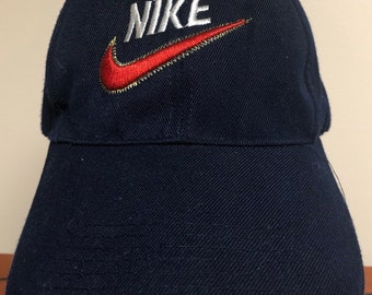 ab46b016332 90s Nike Dad Hat with Embroidered Swoosh