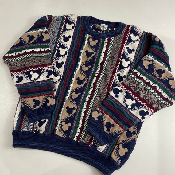 Vintage 90's Mickey Mouse Coogi Style Sweater L-XL