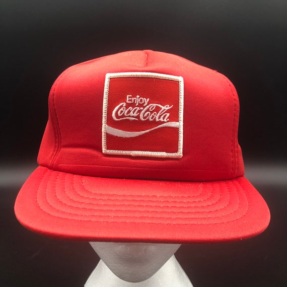 80s Enjoy Coca-Cola Patch Snapback Hat