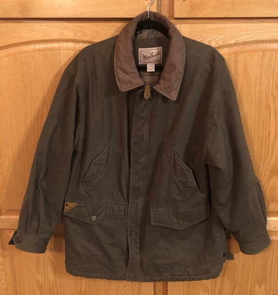 Woolrich Army Green Parka Men's Large